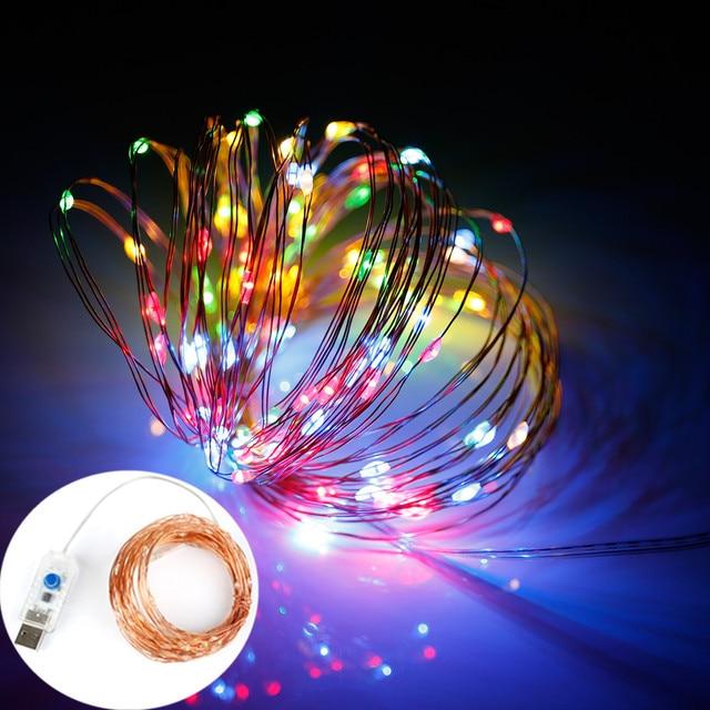 Stecker Für Weihnachtsbeleuchtung.Us 8 1 9 Off Led Lichterkette Usb Stecker 5 V 100 Led Warmes Weiß Starry String Nachtlicht Für Schlafzimmer Weihnachtsbeleuchtung Außen Neue Jahr