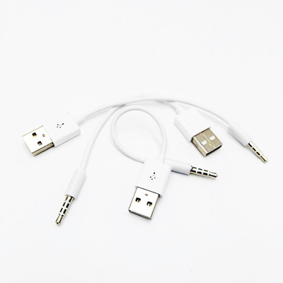 25pcs/lot 3.5mm Jack AUX to USB 2.0 Charger Data Sync Audio Adapter Cable for Apple iPod 3rd 4th 5th 6th gen MP3 MP4