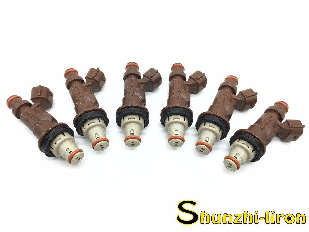 6PCS OEM DENSO FUEL INJECTORS TOYOTA TACOMA TUNDRA 4RUNNER 3.4L V6 23250-62040