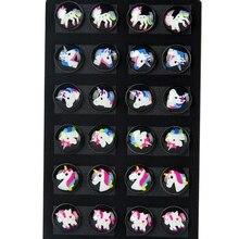 12 Pairs Cute Kids Baby Stud Earrings Sets Women Small Unicorn Lovely Animal Hor