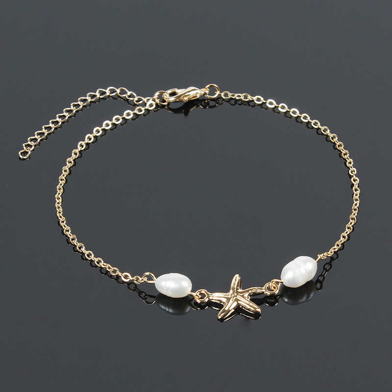 Fashion Women Bracelet Jewelry White Pearl Bracelet For Women Bead Star Hand Chain Simple Hand Accessories For Women