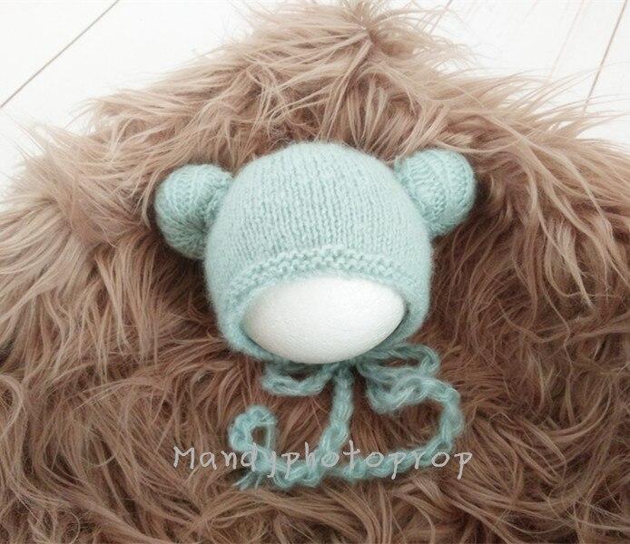 Newborn mohair hat photo prop Newborn Ball Cap Bonnet Photography hat,mohair handmade beanie ...