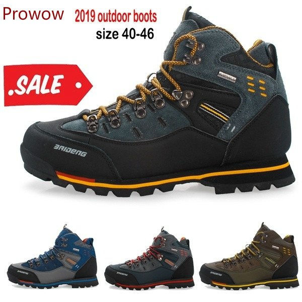 2019 Prowow  Men Hiking Boots Waterproof  Work Shoes Climbing And Fishing Shoes New Popular  Men High Winter Boots