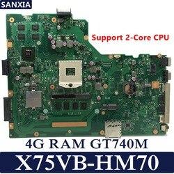 KEFU X75VB laptopa płyta główna do asusa X75VB X75VD X75V X75 Test oryginalne płyty głównej płyta główna HM70 4G RAM GT740M w Płyty główne od Komputer i biuro na