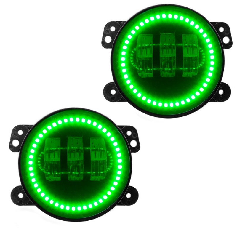2pcs 4 inch 30W LED Round Fog Light Projector Driving Lamp DRL Green Fits for 2007-2016 Jeep Wrangler JK CJ TJ windshield pillar mount grab handles for jeep wrangler jk and jku unlimited solid mount grab textured steel bar front fits jeep
