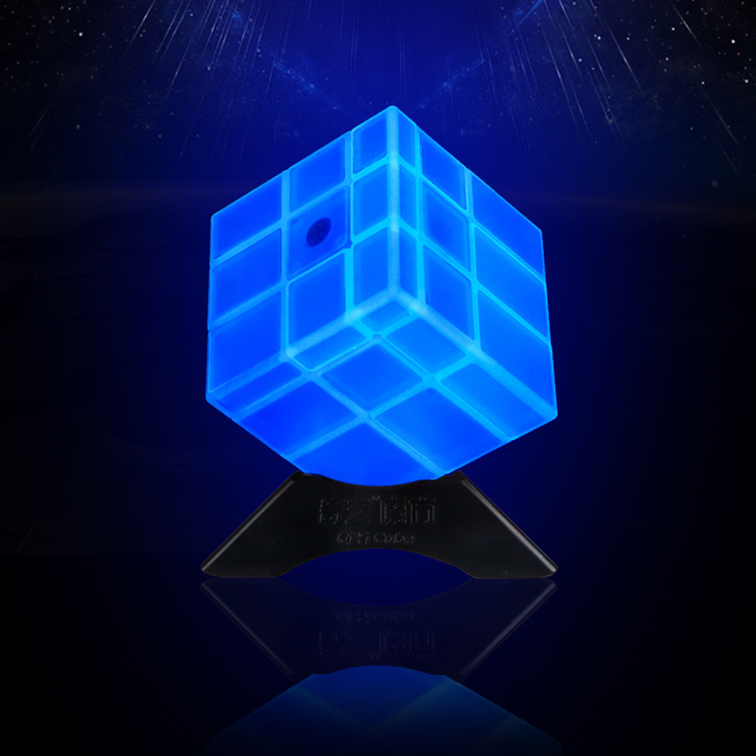 Image 3 - New QiYi 3X3X3 Mirror Blocks Luminous Magic Speed Cube Puzzle Cubo Magico Professional Learning&Educational Classic Toys Cube-in Magic Cubes from Toys & Hobbies