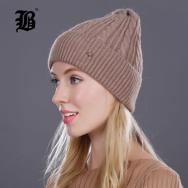 [FLB] Brand 2017 Women Knitted Wool Cotton Autumn Winter Hats Elastic Gorro Multicolors Beanies Cap High-end Cute Casual Hats 2016 limited gorro gorros brand new women s cotton hip hop ring warm beanie cap winter autumn knitted hats beanies free shipping