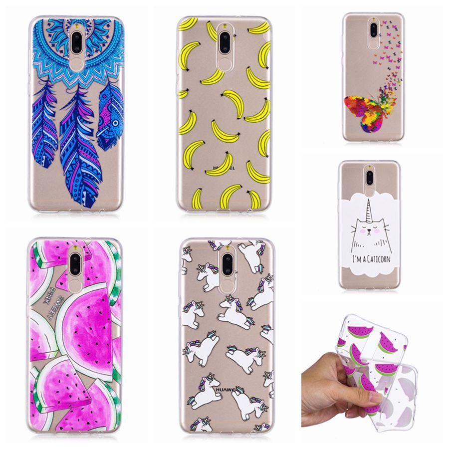Soft TPU Case for Huawei Mate 10 Lite / Head 6 Printing Silicone Back Phone Cover Case for huawei Mate 10Lite Painted Shells Bag