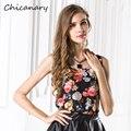 Плюс Размер XXXL 8 Цветов 2016 Женская Clothing Печати Дамы Блузки Без Рукавов Свободные Блузки Танк Повседневная Топы Для Женщин Жилет