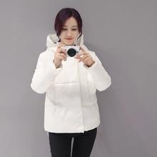 2016 зимние новый женщин Корейской Тонкий пуховик короткий параграф хлопок мода женская хлопок куртка теплая одежда