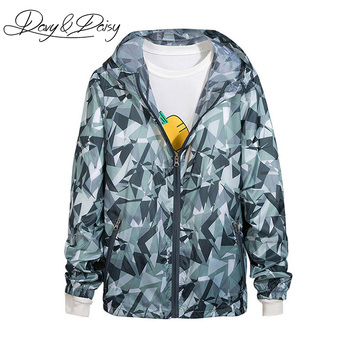 2c23f47fa59 DAVYDAISY Couple Jacket Men Women Sportswear Ultralight Breathable Hooded  Zipper Print Sunscreen Jacket And Coat DCT-116