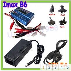 IMAX B6 80 Вт 6A зарядное устройство Lipo NiMh Li-Ion Ni-Cd цифровой RC Баланс Зарядное устройство Dis зарядное устройство+ 12 В 5A адаптер - Цвет: Tamiya plug