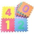 Niños estera del juego del bebé esteras del rompecabezas alfombra de juego de los niños gateando alfombras desarrollo bebés rompecabezas número/letra/animal/espuma de frutas