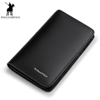 WILLIAMPOLO 2018 Genuine Leather Passport Travel ID Card Holder Money Purse With Passport Cover And Card