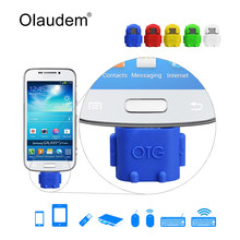 Olaudem OTG Adapter Cartoon Robot Micro USB to USB Cable for Universal Android and Tablet PC Mouse Keyboard with OTG ADT268(China)