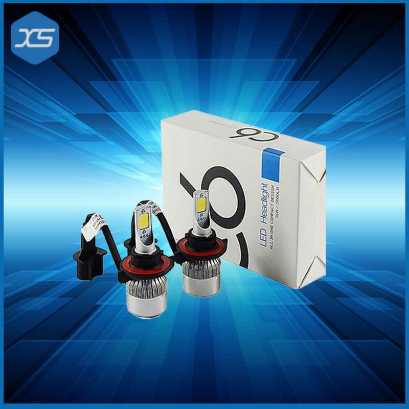 Alibaba express Hi lo H4 LED Yellow 3000K LAMP H7 LED Light H1 12V 36W*2 72W 6000K Super white headlight H3 h11 9005 9006 881