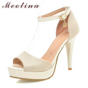 d713456ca9442e Meotina Summer 2018 Platform Sandals High Heels Shoes Women