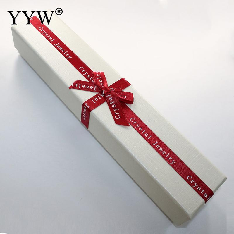 24 Pcs/Lot Elegant Letter Pattern Cardboard Necklace Box with Ribbon Bowknot Decoration Display Packaging Jewelry Gift Boxes