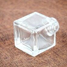 5 шт./лот, 50 мл/100 мл, Прозрачный квадратный ароматический Рид, диффузор, стеклянные бутылки, неэтилированный материал, вазы с черными/серебряными/золотыми колпачками