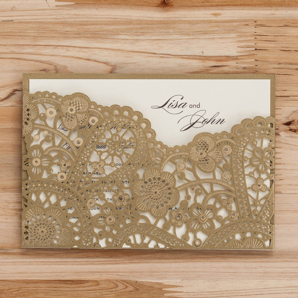 Laser Cut Wedding Invitations Cards Gold Black Red Flora Customized Vintage  For Birthday Card Wedding Party Invites cw5262|card vintage|red birthday  cardsvintage birthday card - AliExpress