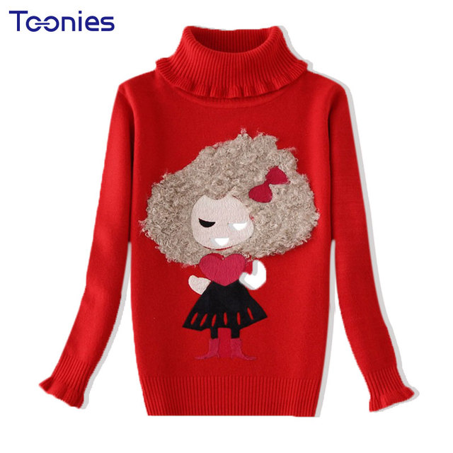 2017 Winter Children Sweater Cute Girls Pullover Sweaters Thick ...