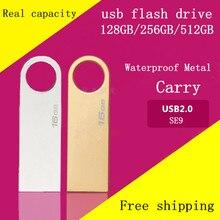 2016 HOT USB Flash Drives 128 GB Pen Drive 256 GB Stylo lecteur Flash Memoria USB Bâton 512 GB U Disque De Stockage USB 2.0