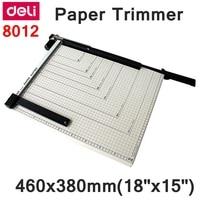 Promo ReadStar Deli 8012 Manual de papel trimmer A3 tamaño 460x380mm 18 x 15 recortador de
