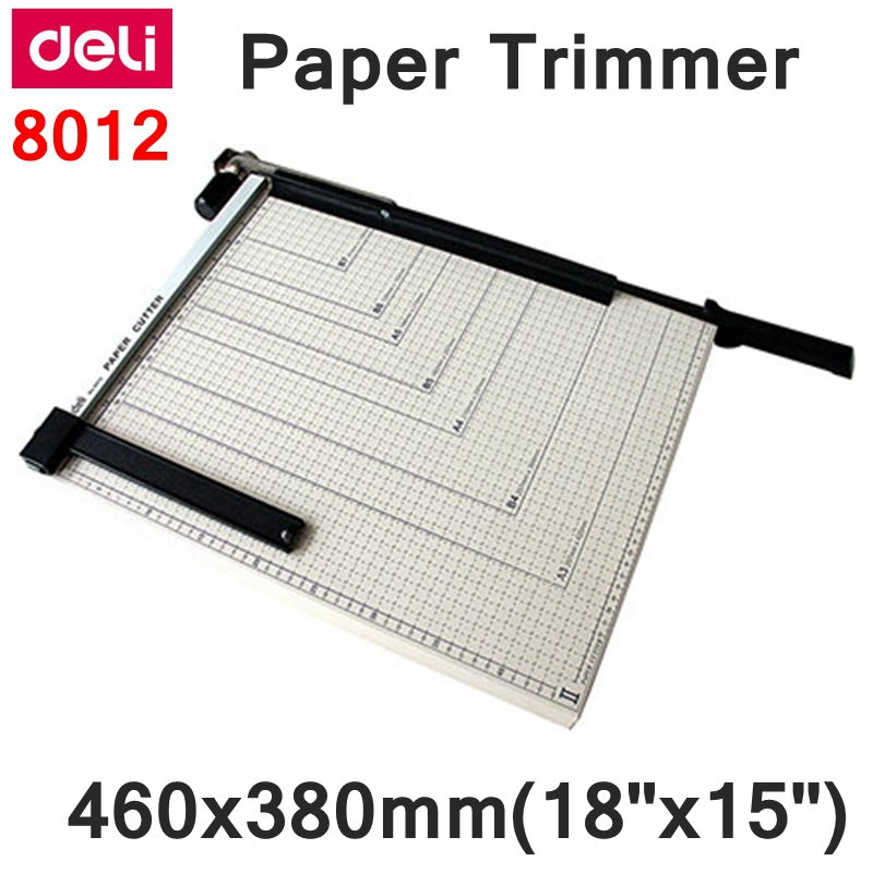 "[ReadStar]Deli 8012 Manual paper trimmer A3  size  460x380mm(18""x15"") large paper trimmer with scaler Cut Paper cutter