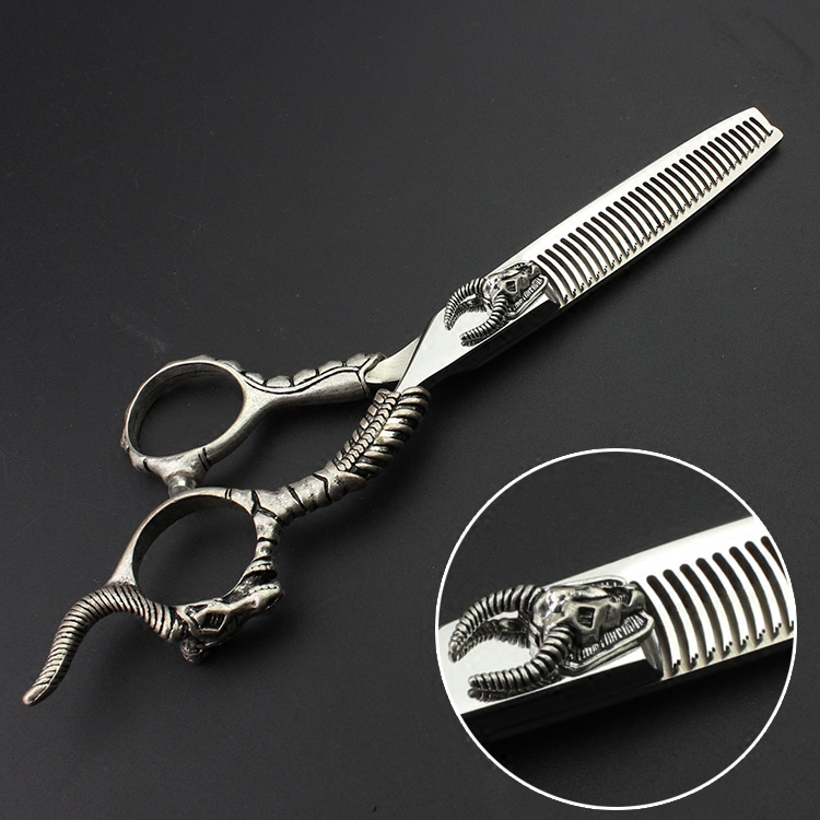 Professional Hair Scissors for Hairdressing 5.5 Inch 6 Inch Japan 440c Hair Salon Retro Salon Cutting Clipper Thinning Scissors