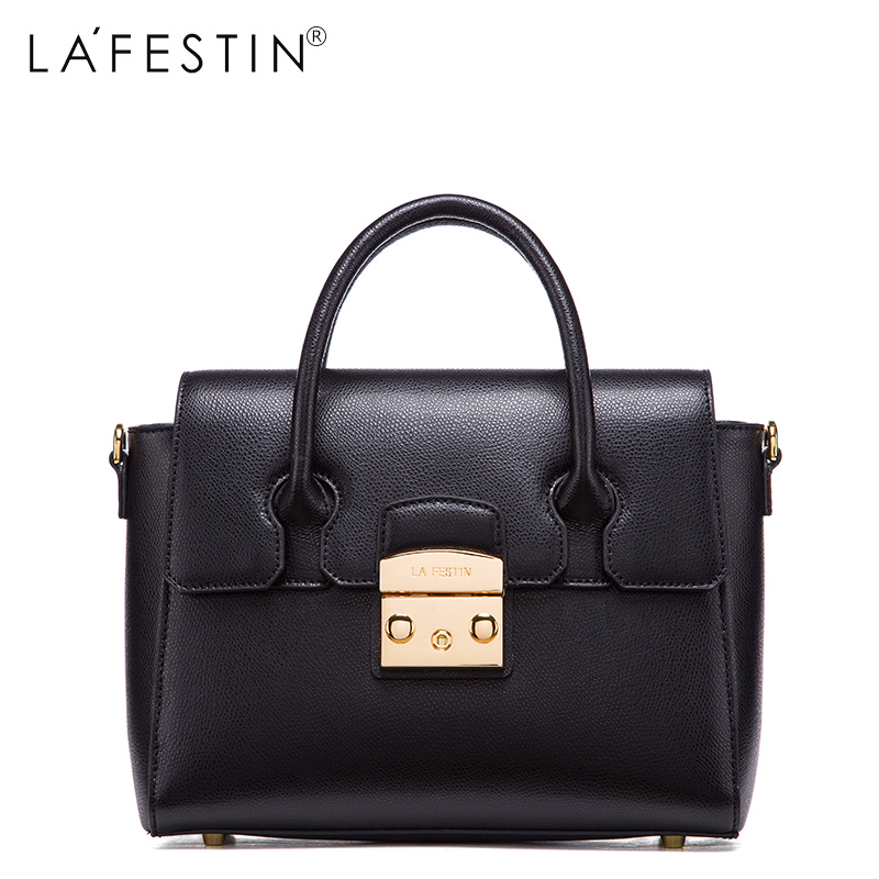 LAFESTIN Luxury Women Handbag Genuine Leather Bag 2017 Fashion Designer Totes Bags Shoulder Brands Women Bag bolsa Female luxury genuine leather bag fashion brand designer women handbag cowhide leather shoulder composite bag casual totes