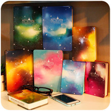 Creative Korean Stationery Beautiful Color Page Hardcover Diary Journal Notebook Paper Notepad For School Office