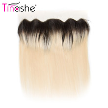 Tinashe Hair Brazilian Straight Hair Lace Frontal Remy Human Hair 13x4 Ear to Ear Lace Frontal Closure Deals 1B 613 Blonde Color(China)