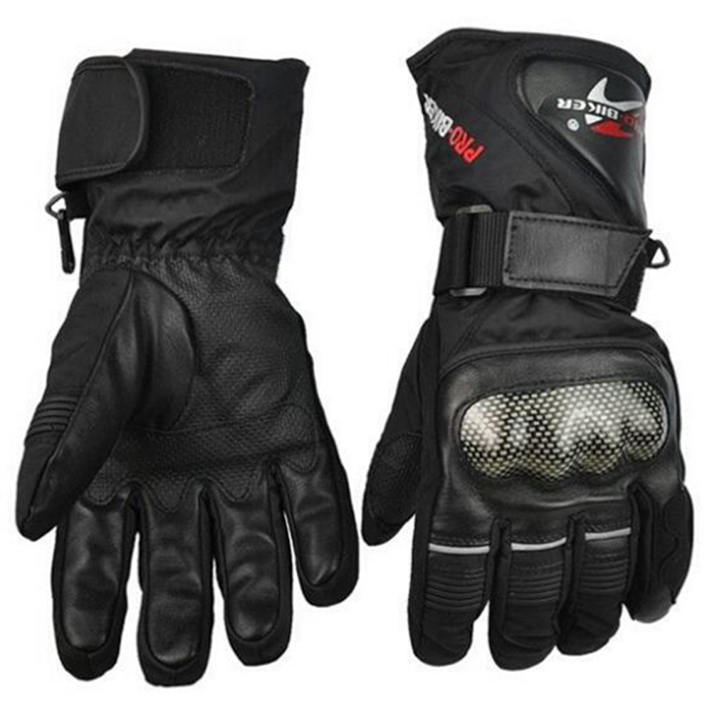 Leather <font><b>Gloves</b></font> Motorbike Motorcycle <font><b>Gloves</b></font> Winter Waterproof Windproof Protective gear Sports Racing Motocross Moto <font><b>Gloves</b></font> luvas