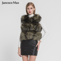 2019 New Winter Women Real Fox Fur Gilet Natural Fur Vest Fashion Style Waistcoat 3 Rows Keep Warm S7382