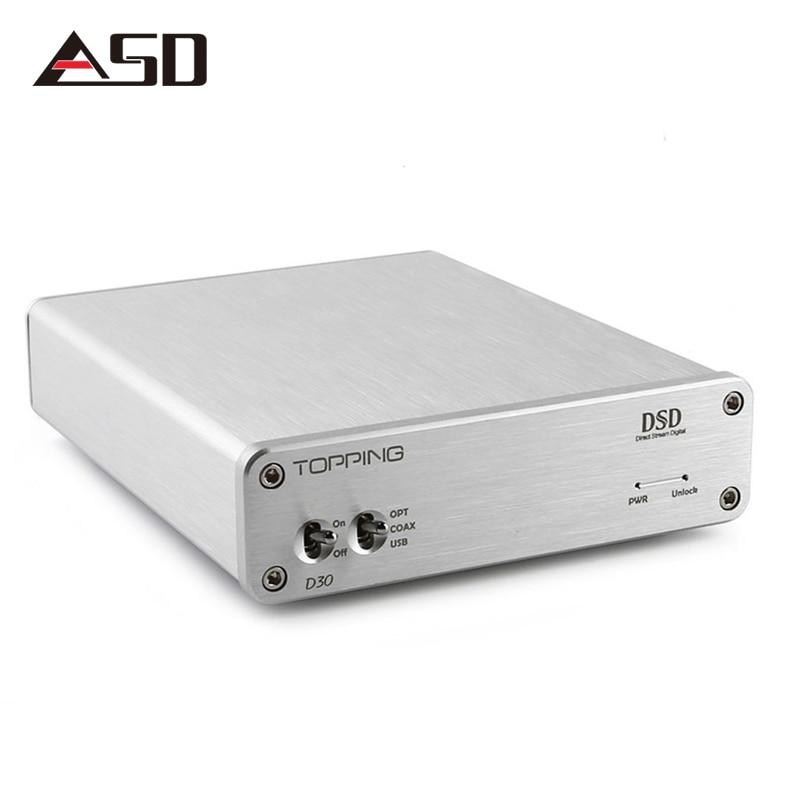ASD Topping D30 Desktop Hifi Digital DSD Audio Decoder XMOS USB DAC Coaxial Optical Fiber CS4398 24Bit 192KHz amplifier new listing trasam dac3 xmos hifi 192khz 24bit hifi optical fiber coaxial digital audio amp dac decoder