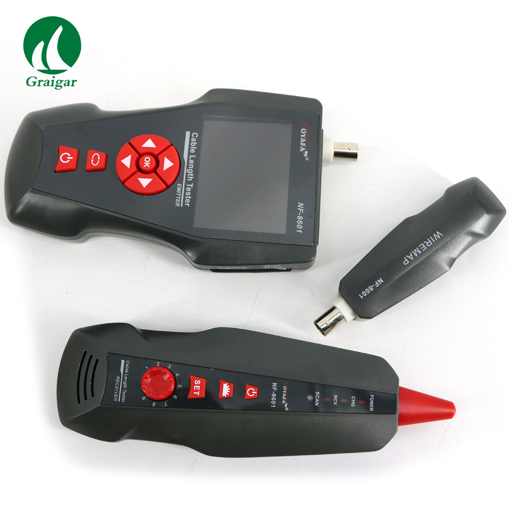 Testeur de câble réseau multifonctionnel NOYAFA NF-8601 LAN pour diagnostiquer la tonalité BNC POE/PING RJ45 RJ11 traqueur de fil de téléphone + LED LCD