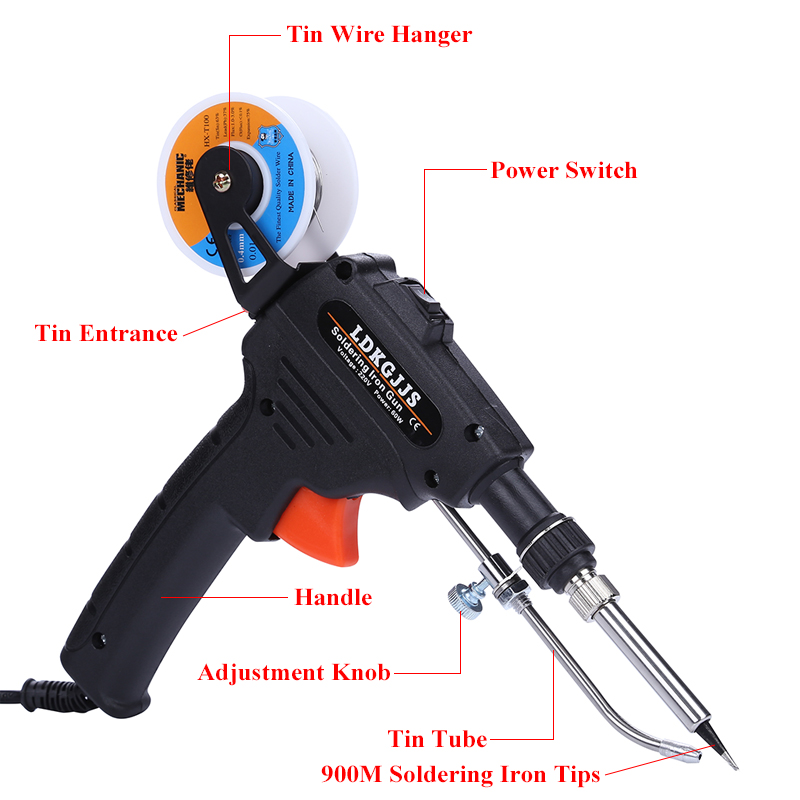Tin Held Gun Send Gun Solder 60W 220V Internal Soldeerbout With 110V Wire Soldering Welding Hand Automatic Iron Heating