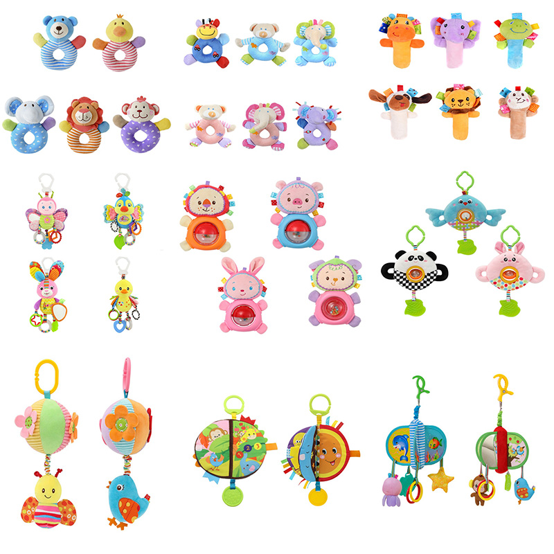 Fashion Kids Baby Bed Bell To Choose Lathe Hanging Ring Teethers Cartoon Animal Crib Stroller Bedding Toys For Children Gifts