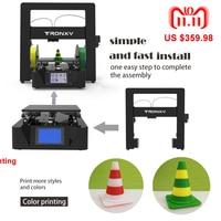 Новый Tronxy 3D наборы для принтеров DIY плюс Размеры область печати X6 2E двойной Цвет принт Алюминиева экструдер большой Heatbed плиты 3D принтеры