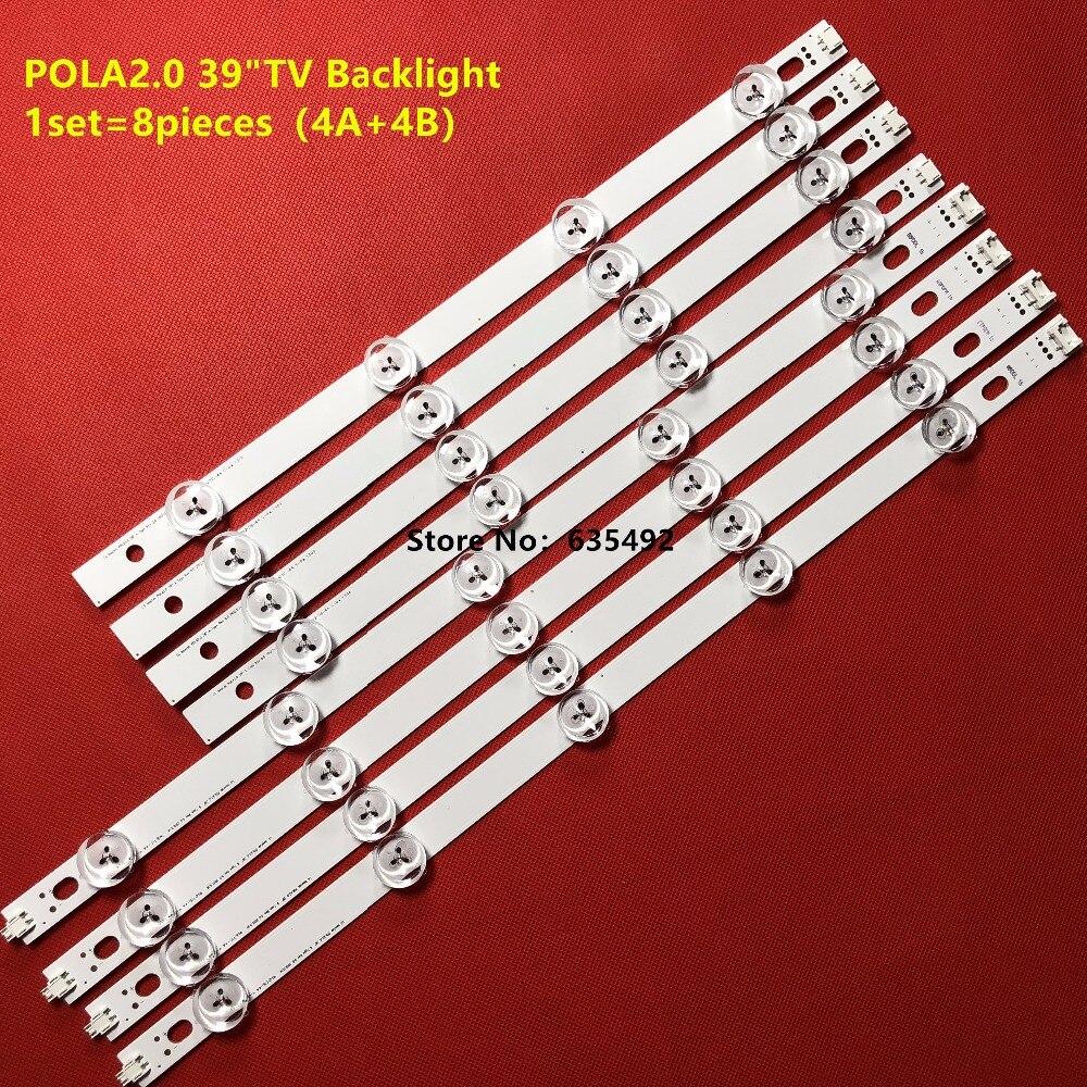 """1set =80pcs (40A+40B) LED Backlight bar For TV HC390DUN-VCFP1-21X 39LN5400 39LA6200 LG innotek POLA2.0 39""""A/B Type pola 2.0"""