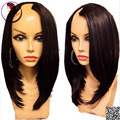 1x3 right Part U Part Human Hair Wigs Silky Straight Short Bob Wig Malaysian Unprocessed Virgin Upart Wig For Black Women
