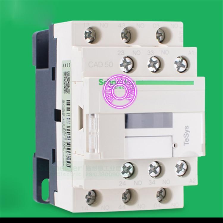 CAD Series Contactor CAD50 CAD50KD 100V CAD50LD 200V / CAD50MD 220V / CAD50ND 60V / CAD50PD 155V / CAD50QD 174V / CAD50ZD 20V DC new control relay cad series cad32 cad32sdc cad 32sdc 72v dc