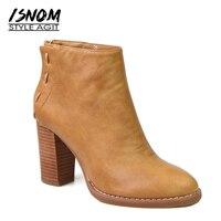 Super High Heel Ankle Boots 2017 New Arrival Winter Boots Back Zipper Female Footwear Women Shoes
