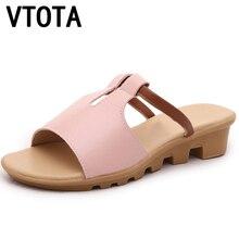 Vtota женские тапочки повседневные Вьетнамки Сандалии Женская обувь на танкетке Модные дышащие женские шлепанцы sandalias mujer сандалии X364