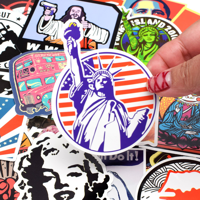 50 PCS Retro Style Sticker Graffiti Viaggio Divertente JDM Adesivi per il FAI DA TE Sticker sulla Valigia Dei Bagagli Del Computer Portatile di Skateboard Bicicletta Auto 3