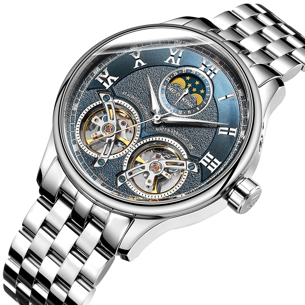 ORKINA watch men's automatic mechanical watch double tourbillon hollow waterproof fashion trend business men's watch