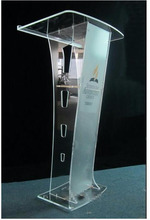 Free Shipping logo customize Environmental acrylic pulpit, podium Church / clear colorless church pulpit