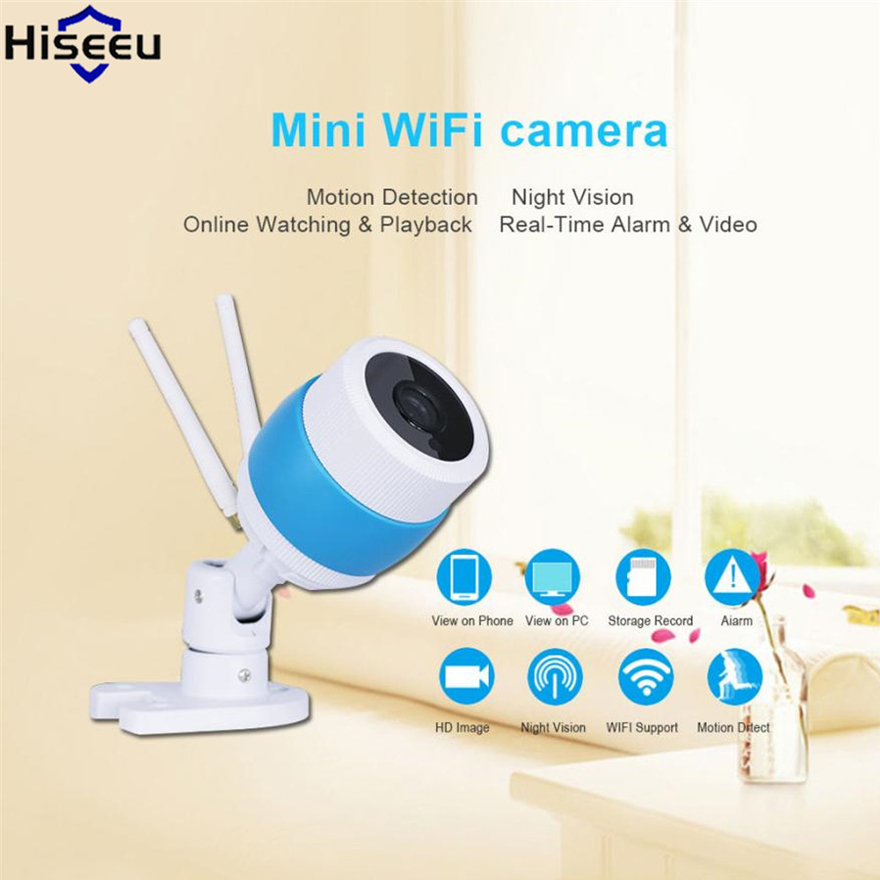 Hiseeu Ip Camera Wireless Outdoor Security Camera 720P Night Vision P2P Mini Camera Metal Case Waterproof Endoscope Dropshipping zoom 2 8 12mm metal hd 720p ip camera outdoor waterproof security night vision p2p mobile alarm