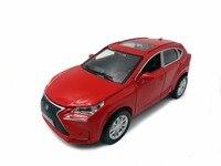 Hot 1:32 escala diecast coches toyota LEXUS SUV NX de metal tire hacia atrás de aleación modelo colección de juguetes con luz y sonido ruedas