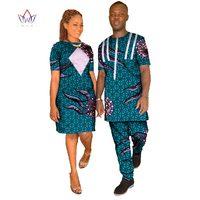 2018 paar Kleidung Jubiläumsgeschenk für Paar hochzeit Kleid und T-shirt afrikanische kleidung traditionelle dashiki WYQ09